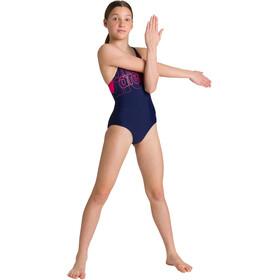 arena Spotlight Swim Pro Back Traje Baño Una Pieza Niñas, azul